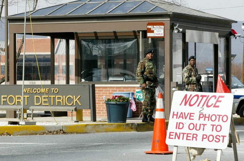 馬里蘭州費雷德里克郡德特里克堡(Fort Detrick)。(Getty Images)