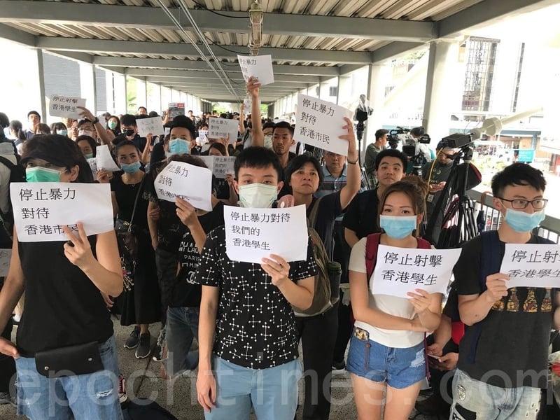 如果中共對香港大規模和平抗議《逃犯條例》(又稱送中條例)活動,採取激烈的鎮壓手段,特朗普政府有可能改變給予香港的特殊貿易和商業地位。(蔡雯文/大紀元)