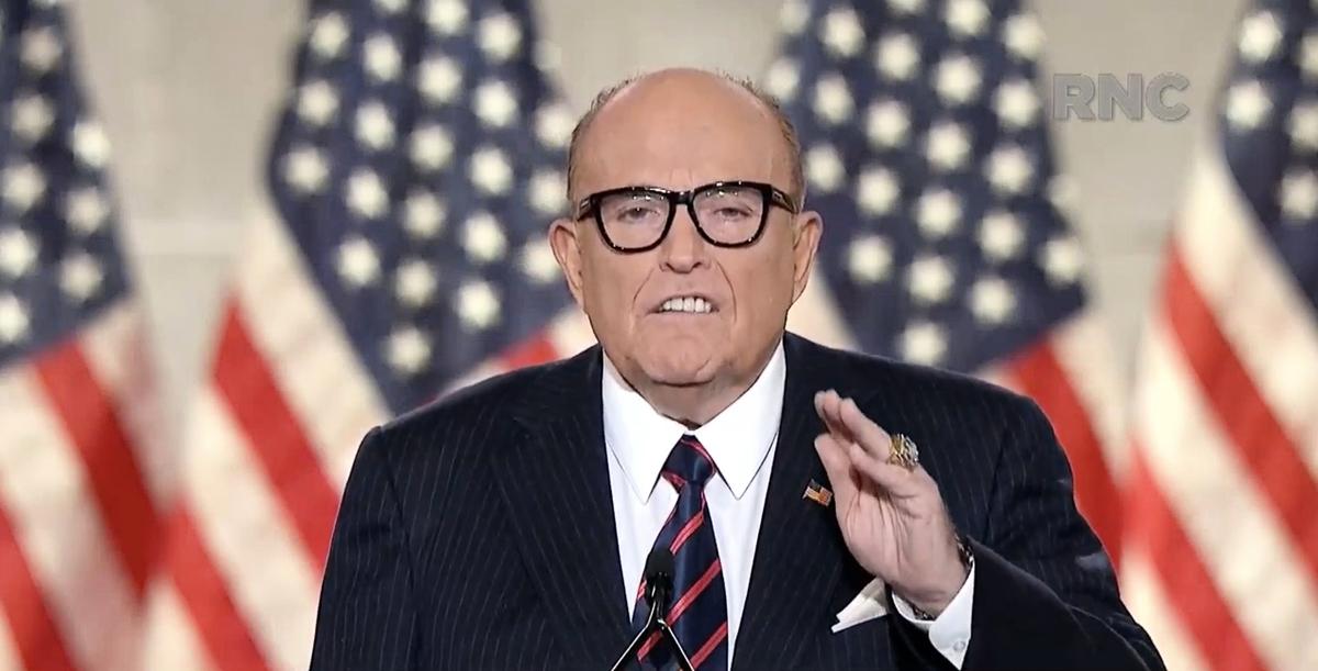 前紐約市長、特朗普總統的私人律師魯迪‧朱利安尼(Rudy Giuliani)。(various sources/AFP)