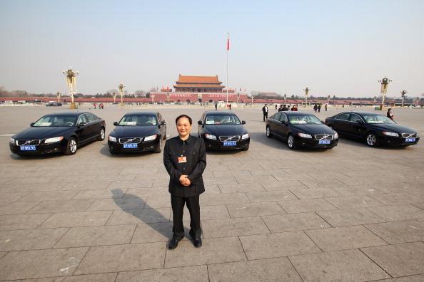 圖為吉利創始人李書福。此圖攝於2011年。(Feng Li/Getty Images)
