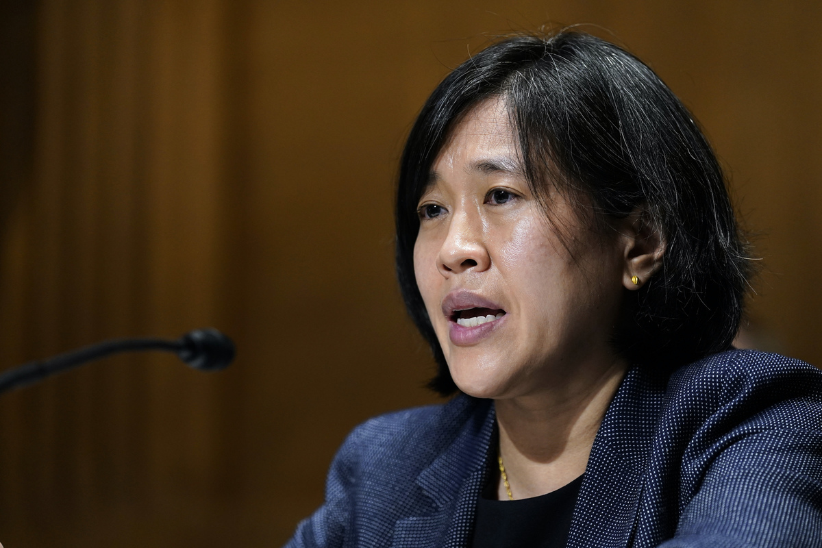 美國貿易代表戴琪(Katherine Tai)。(Susan Walsh-Pool/Getty Images)