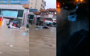 廣州暴雨洪澇 汽車沒頂 地鐵停運 學校停課
