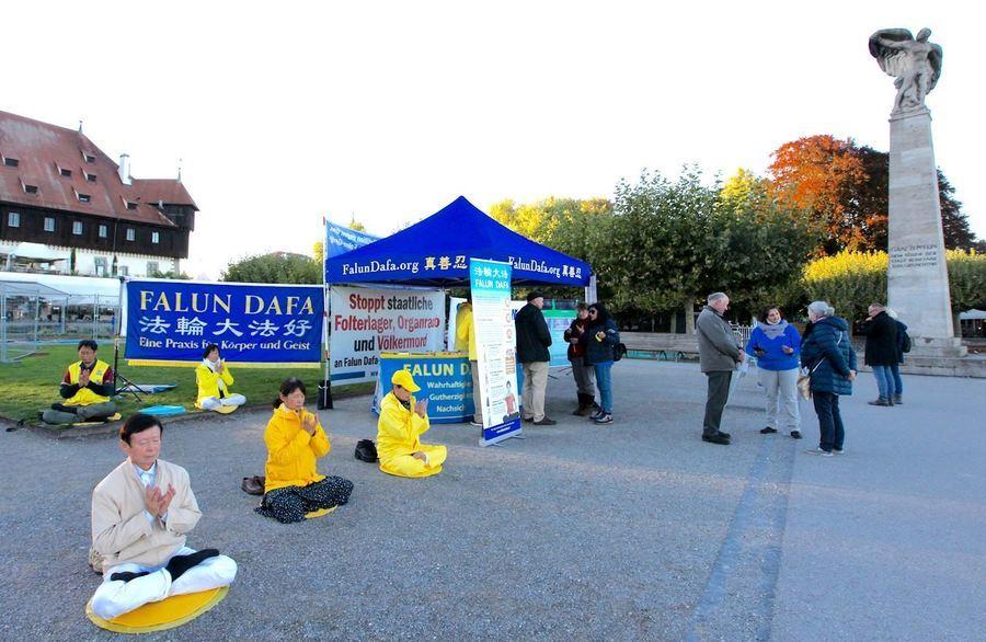 博登湖畔 三國民眾聲援法輪功學員反中共迫害