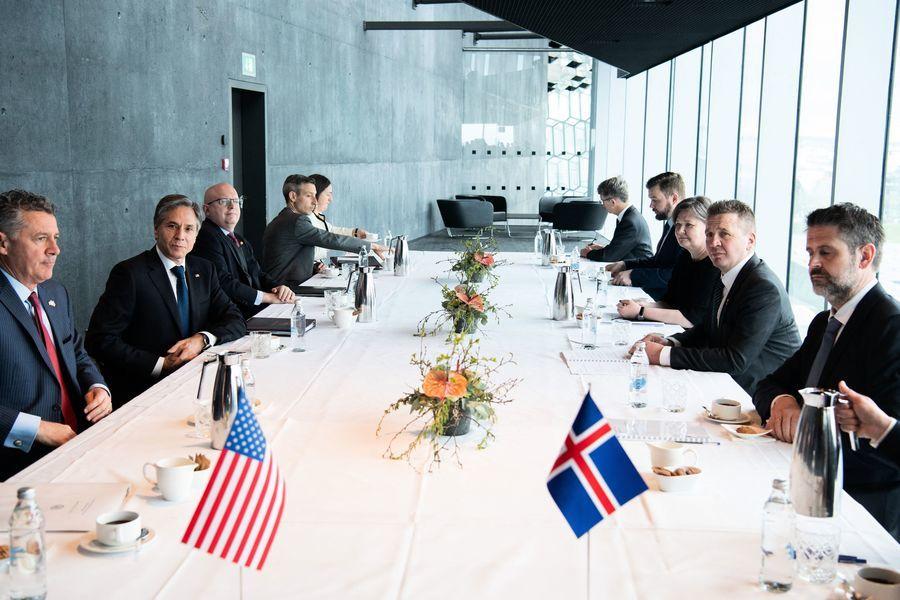 美國務卿布林肯訪問冰島