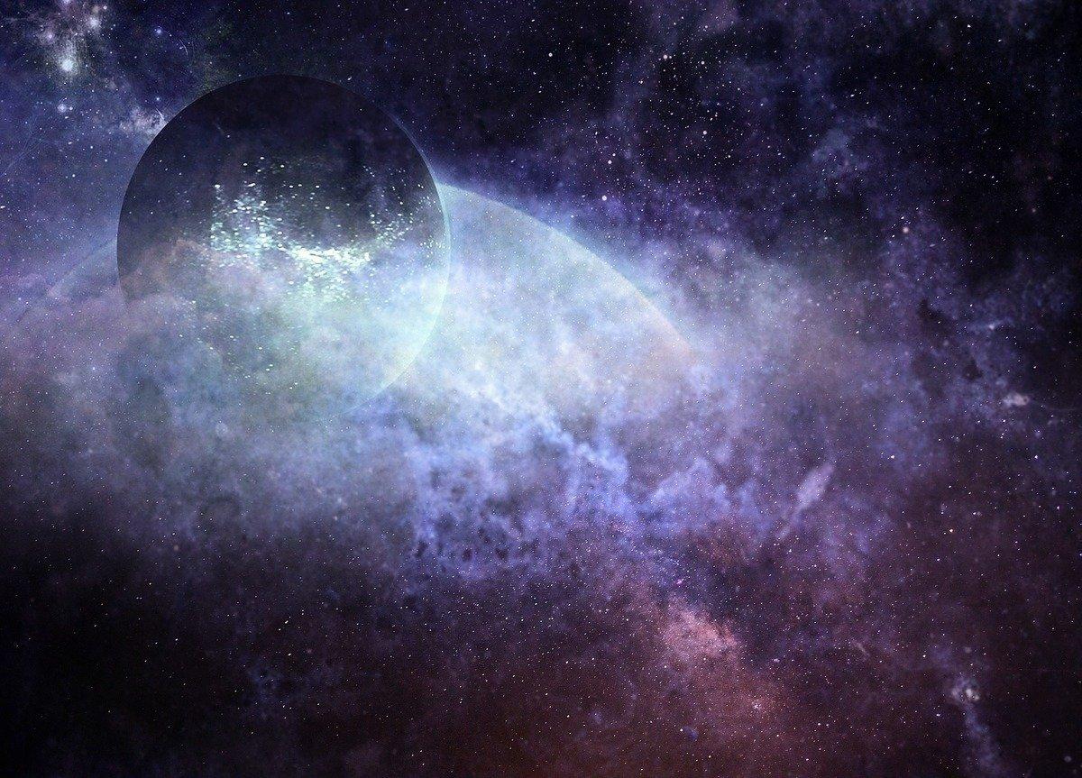 此為宇宙與星體的示意圖。(Pixabay)