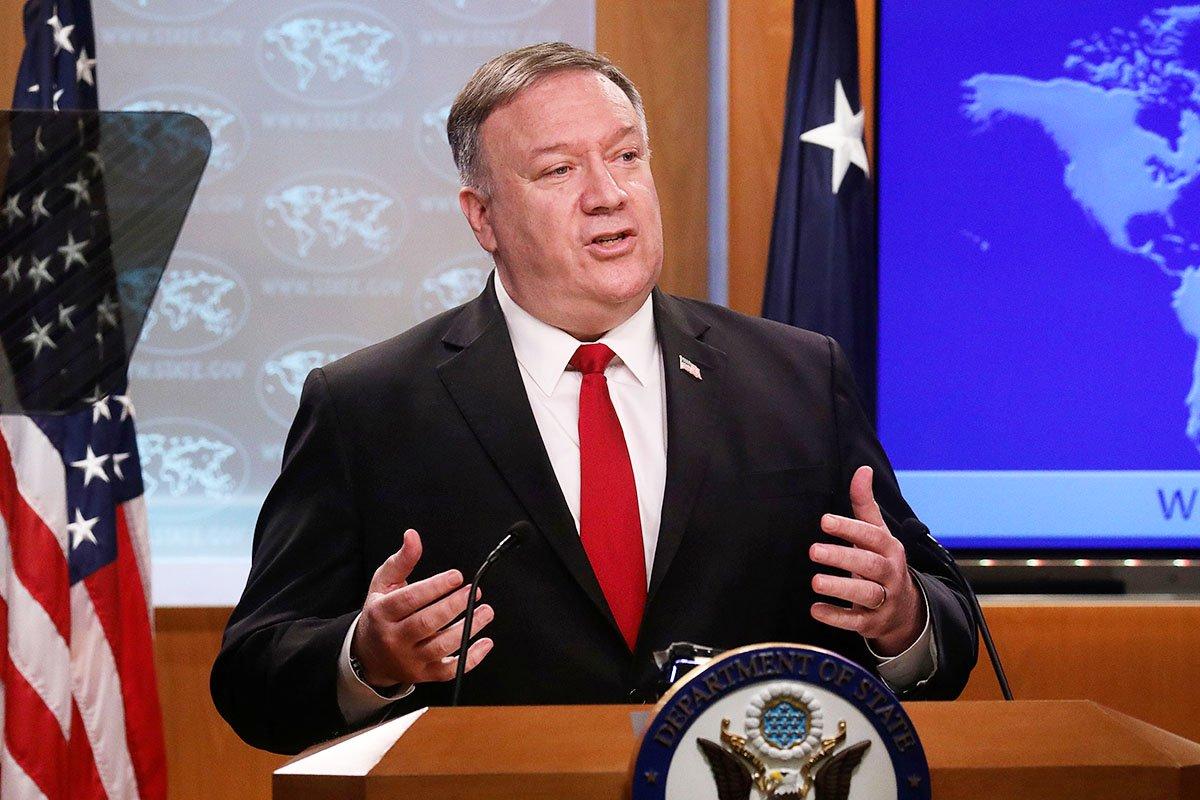 圖為美國國務卿蓬佩奧。(LEAH MILLIS/Getty Images)