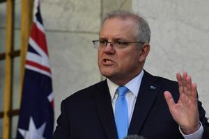 特朗普授予澳洲總理莫里森最高軍事勛章