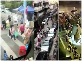 【一線採訪】廣州鶴園社區連夜集中隔離