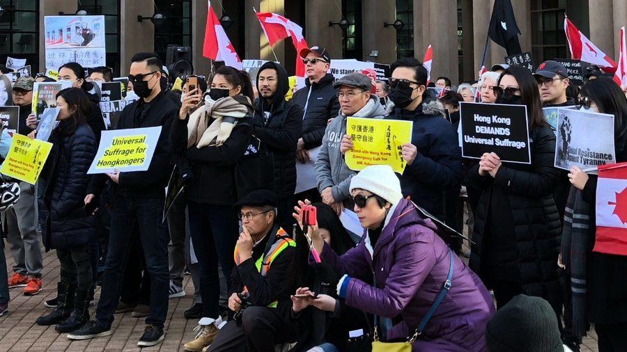 近千人溫哥華集會 撐香港人堅守自治