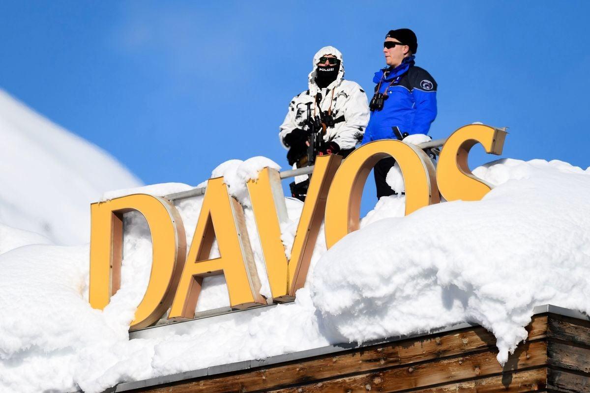 知情人士透露,習近平不打算參加明年1月的達沃斯世界經濟論壇。圖為2018年世界經濟論壇1月26日在瑞士達沃斯閉幕。 ( FABRICE COFFRINI/AFP/Getty Images)