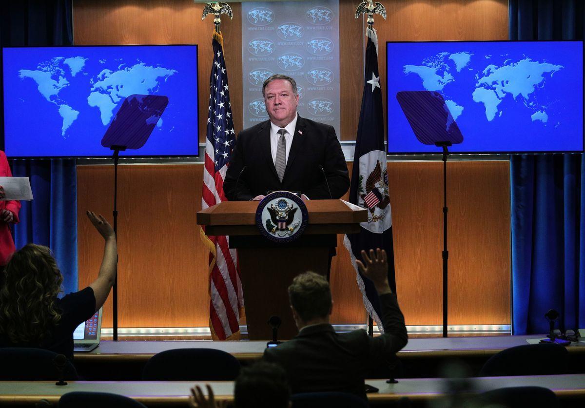 圖為美國務卿蓬佩奧(Mike Pompeo)。(TOM BRENNER/POOL/AFP via Getty Images)