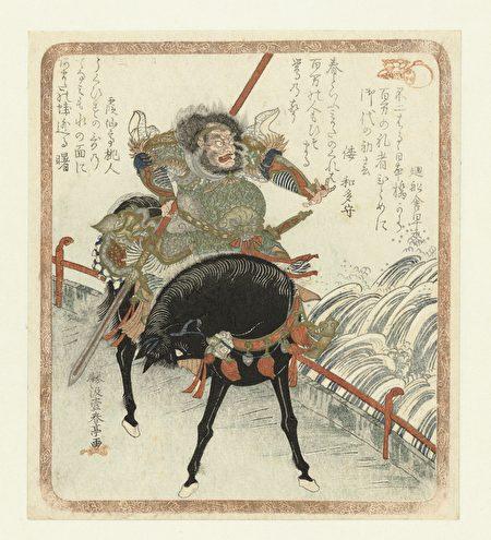 日本浮世繪裏的張飛像(公有領域)