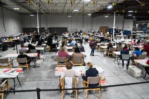 組圖:佐治亞州重新點票 預計11月18日完成