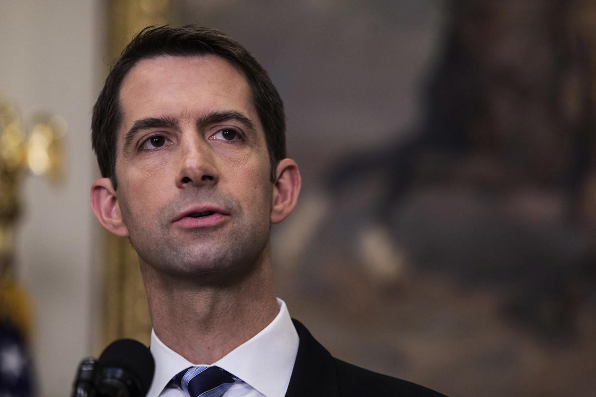 美國參議員湯姆·科頓(Tom Cotton)說,世衛若未適當改革,美國應脫離世衛,成立新的國際組織。(Zach Gibson - Pool/Getty Images)