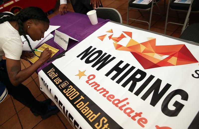 特朗普執政以來,美國勞動力市場持續走強。(Justin Sullivan/Getty Images)