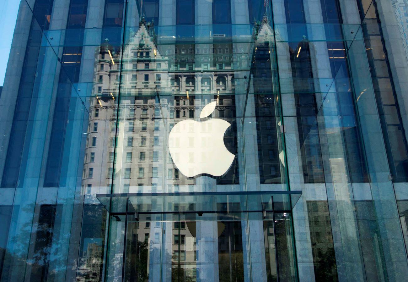 蘋果公司在曼哈頓的直營門市。(DON EMMERT/AFP via Getty Images)