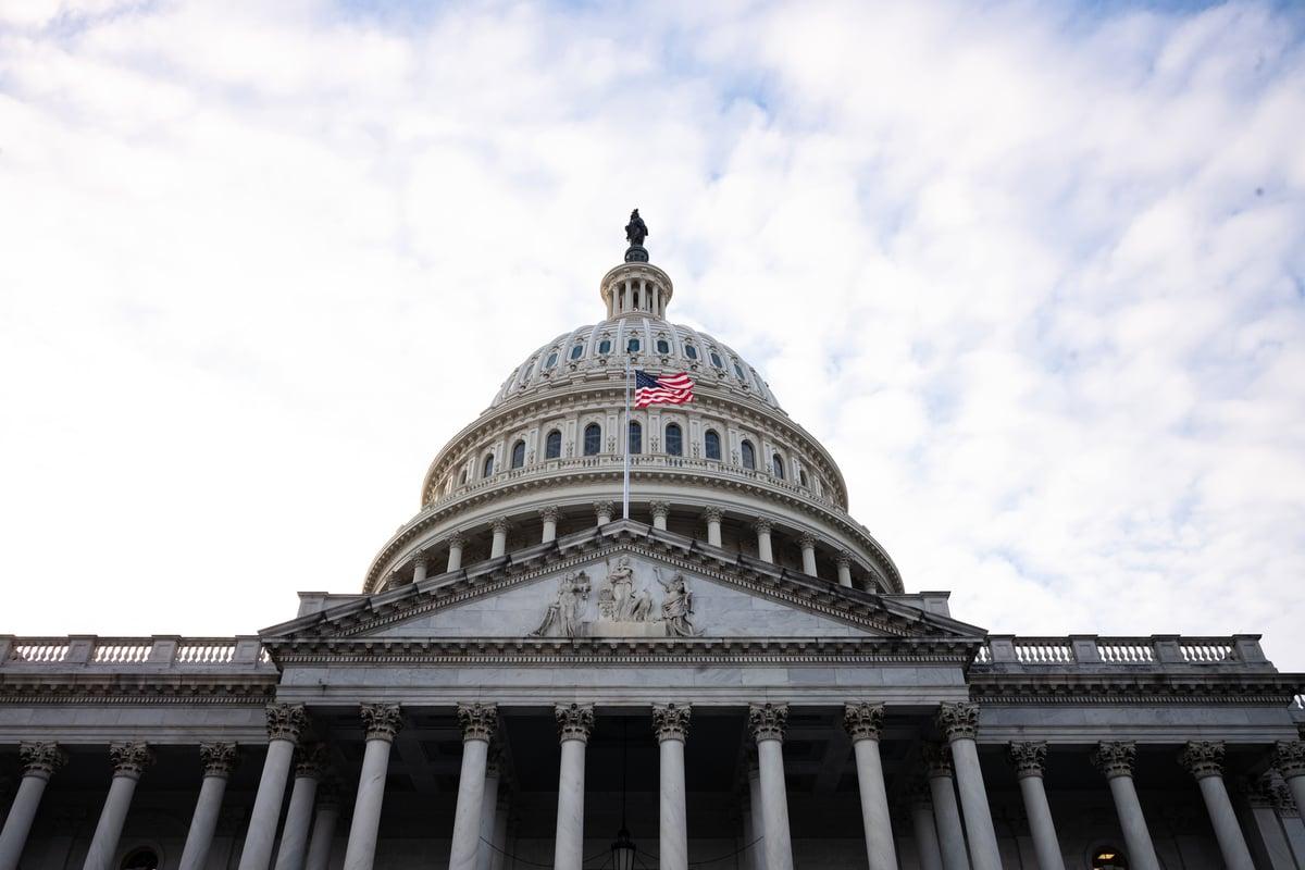 圖為華盛頓特區的美國國會大廈。(Cheriss May/Getty Images)