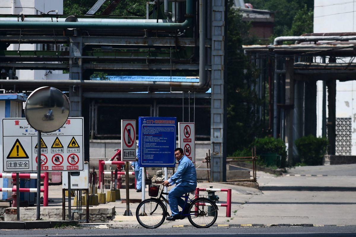 知情人士告訴路透社,中國兩大石油公司擔心被美國制裁,決定11月不向伊朗購油。(WANG ZHAO/AFP/Getty Images)