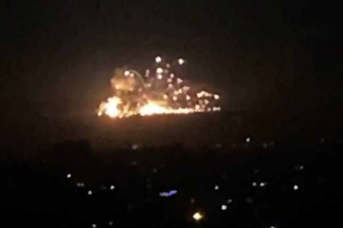 2019年11月20日以色列對在敘利亞的伊朗恐怖組織「聖戰軍」展開大規模打擊,以回應之前一天對方的火箭炮。(AFP via Getty Images)