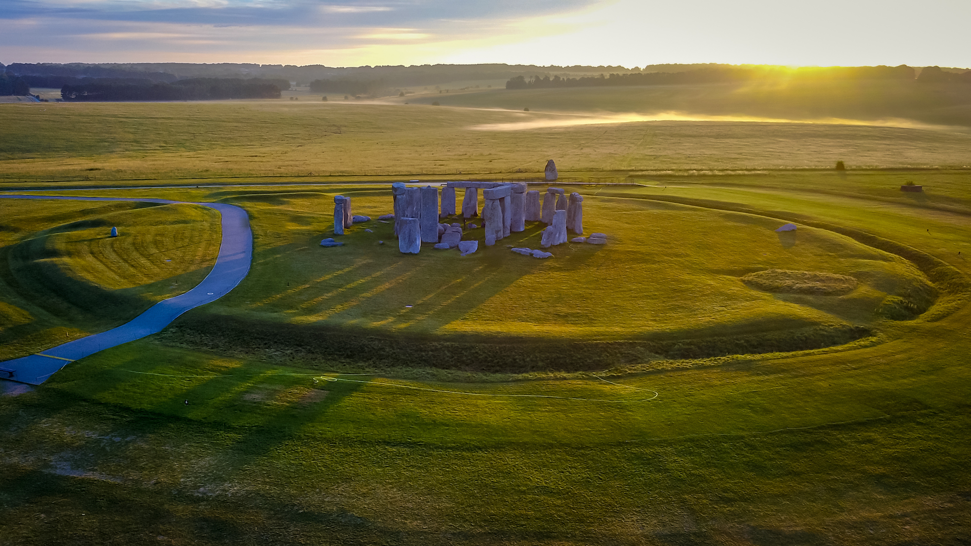 英格蘭巨石陣俯瞰圖。(ShutterStock)