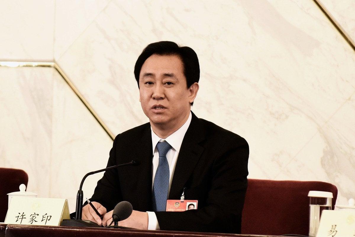 中國房地產巨頭恆大集團在中共當局的接連打擊下,被迫甩賣資產以變現減少負債。圖為恆大黨委書記兼董事長許家印。(Etienne Oliveau/Getty Images)