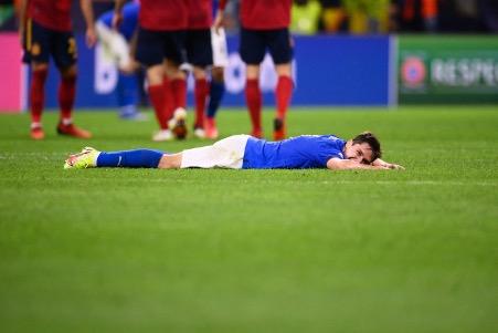 本場比賽費達歷高基艾沙表現出色,卻也無法為意大利隊挽回勝利。(FRANCK FIFE/AFP via Getty Images)