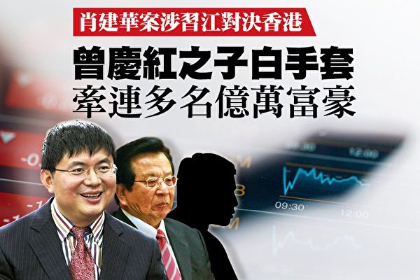 肖建華(左)被視為中共權貴的白手套。(大紀元合成圖)