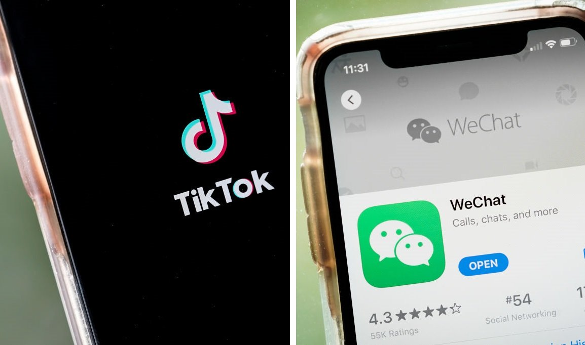 美國政府9月18日宣佈,禁止微信和TikTok,從9月20日生效。(Getty Images/大紀元合成)