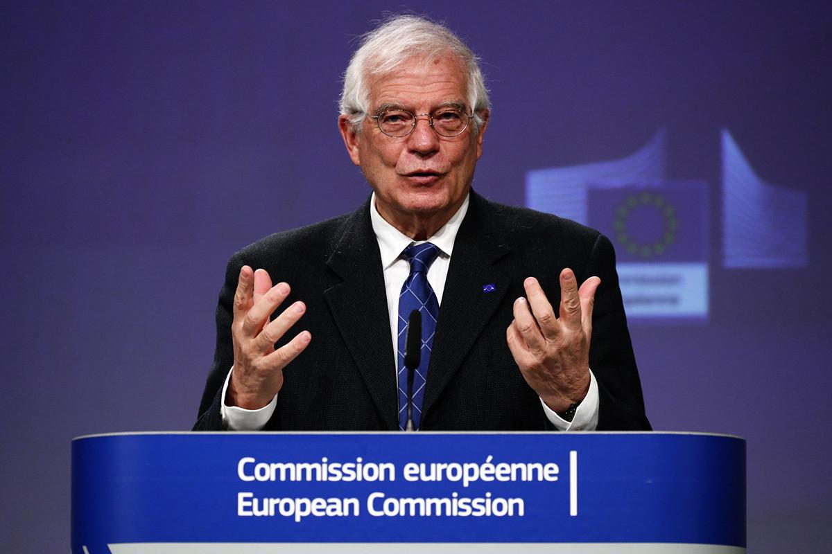 圖為歐盟外交與安全政策高級代表何塞普·博雷利(Josep Borrell)。(FRANCOIS LENOIR/POOL/AFP)