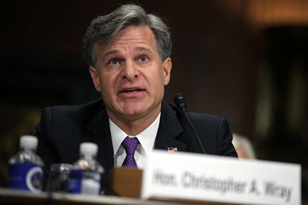 美國聯邦調查局局長克里斯托弗·雷(Christopher Wray)。(Alex Wong/Getty Images)