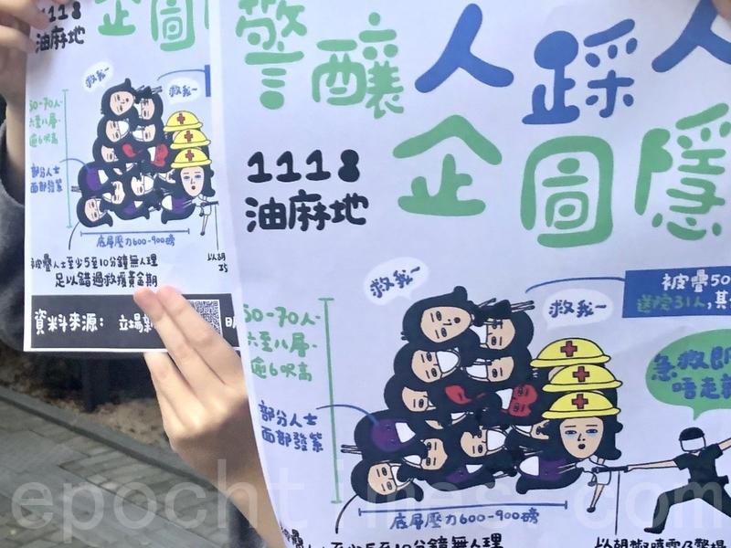2019年11月27日,香港網民發起觀塘駿業街遊樂場「和你Lunch」活動,要求政府回應11.18油麻地「人踩人」事件。(余天祐/大紀元)