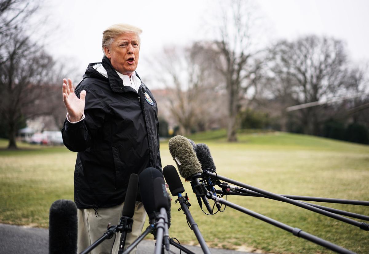 3月8日,美國總統特朗普表示,無論是否與中國達成貿易協議,美國都會做得很好。特朗普也重申,不會和中方達成一份不好的協議。(MANDEL NGAN / AFP)