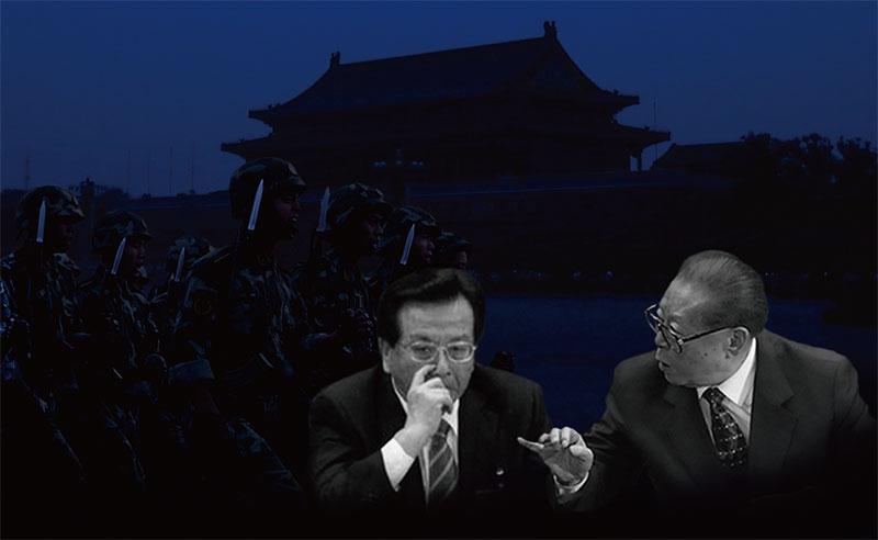 中共黑惡勢力的總代表,前中共獨裁者江澤民及其「軍師」曾慶紅(大紀元合成圖片)