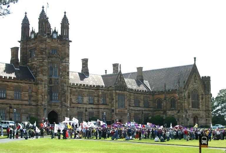 非政府組織「人權觀察」(Human Watch)周二(6月29日)發表一份報告說,中共政府及其支持者在澳洲監視、騷擾和恐嚇支持民主的中國留學生。圖為悉尼大學校園。(DAVID HANCOCK/AFP)