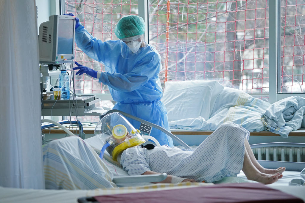 德國2021年1月12日宣佈,境內發現南非變種病毒。(Sean Gallup/Getty Images)