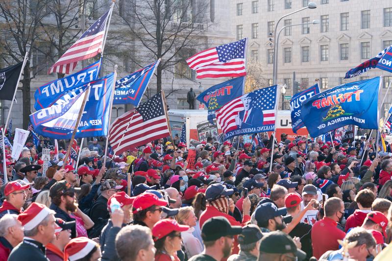 2020年12月12日,美國華盛頓DC舉辦「制止竊選、支持特朗普連任」的大型遊行集會活動。(Leo Shi/大紀元)