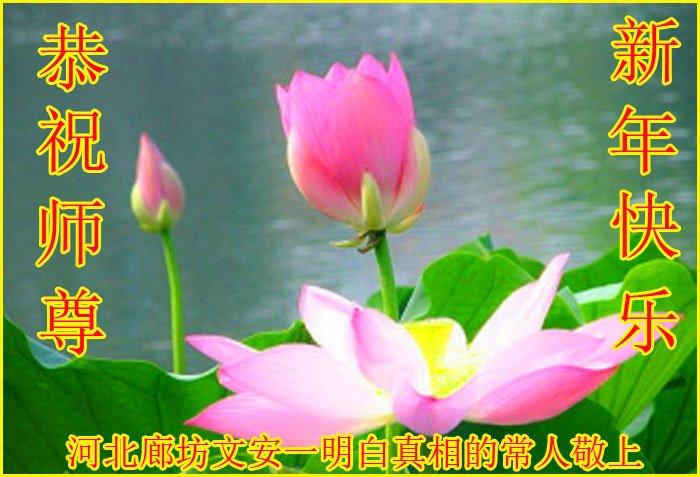 在2020年新年來臨之際,大陸民眾恭祝李洪志師父新年快樂。(明慧網)