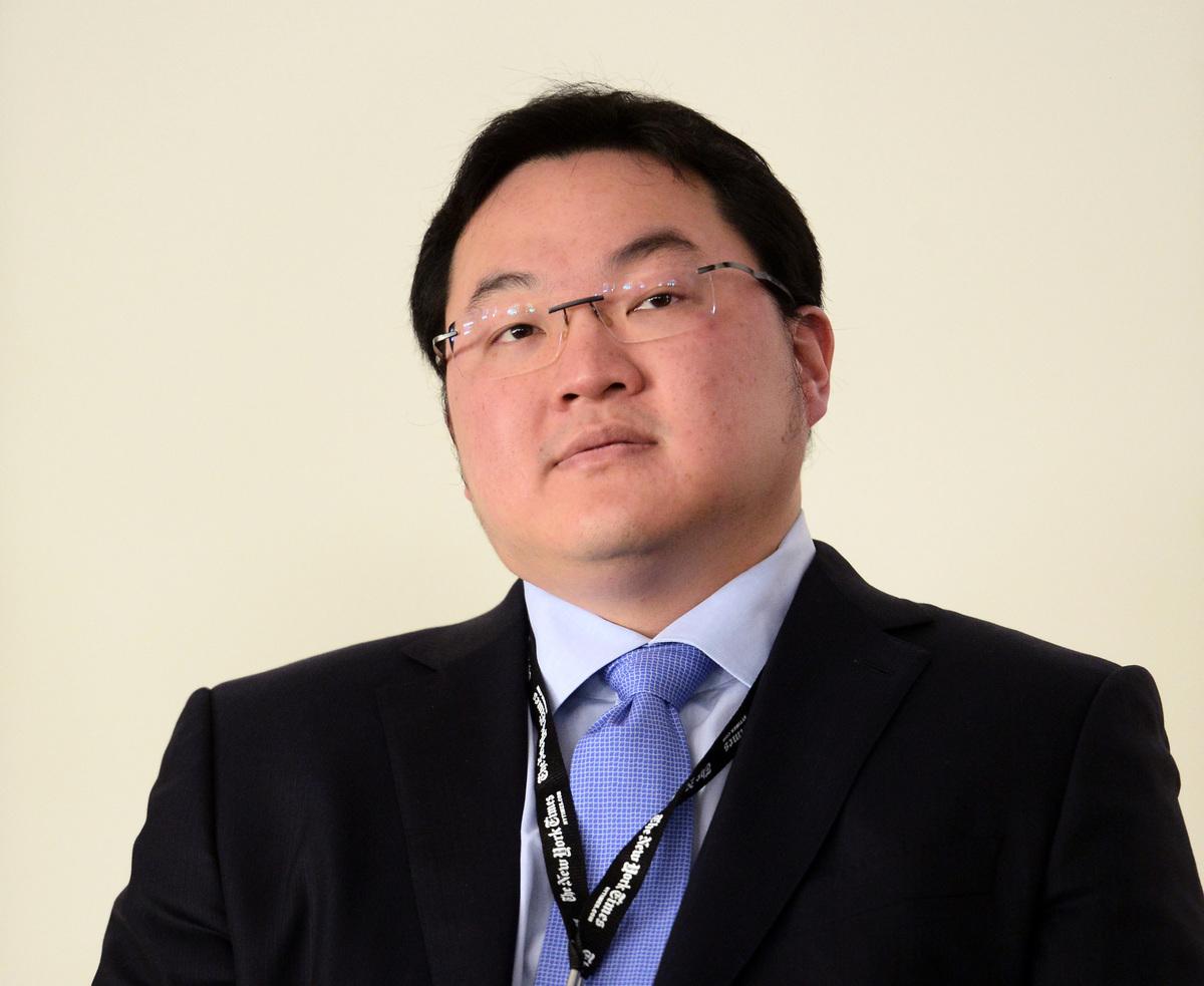 2014年5月29日,華裔商人劉特佐(Low Taek Jho,亦稱Jho Low)在加州大學三藩市分校的Mission Bay會議中心上。(Michael Loccisano/Getty Images for New York Times)