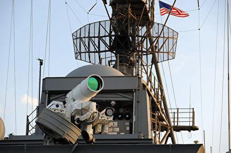 龐塞號兩棲登陸艦上的激光炮。(維基百科)