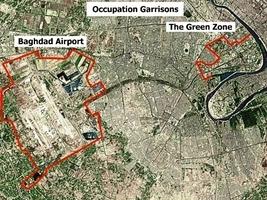 兩枚火箭彈落在伊拉克巴格達綠區