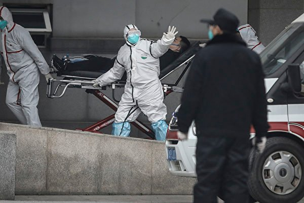中共病毒(俗稱武漢病毒、新冠病毒)全球大流行,致眾多生命死亡。圖為武漢金銀潭醫院。(CHINA OUT/Getty Images)
