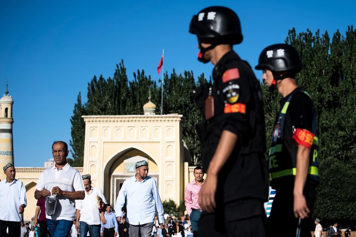 最近幾個月,中共打壓維吾爾人的行動越來越受到國際社會的關注。 (JOHANNES EISELE/AFP/Getty Images)