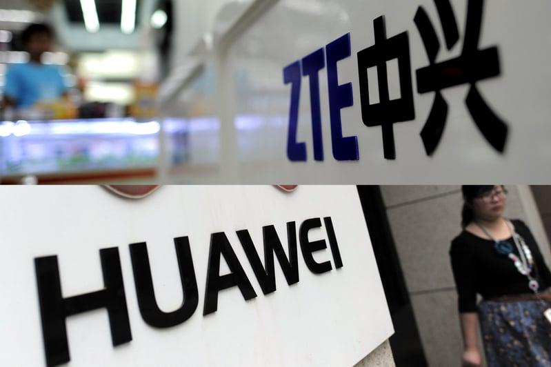 美國聯邦傳播委員會(FCC)以國家安全為由,提議不許電信業者用國家預算採購中興及華為的網絡設備,並要拆除現有的中國產設備。這項提案預計2019年11月19日投票。(AFP)