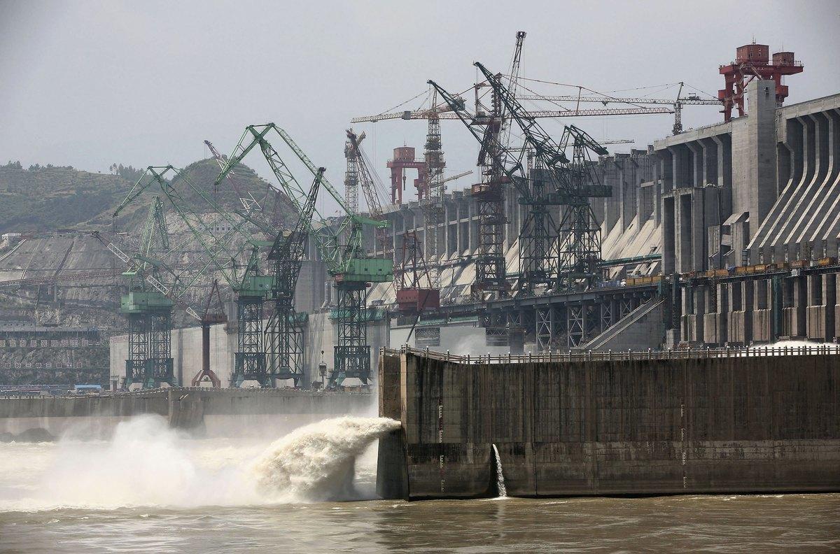 圖為三峽大壩。(AFP/Getty Images)