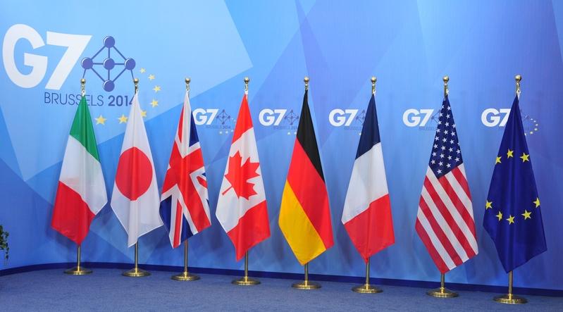 七國集團(G7)外交部長2020年6月17日發表聯合聲明,對中共在香港強推《國安法》表示嚴重關切,並敦促北京重新考慮這一決定。(GEORGES GOBET/AFP/Getty Images)