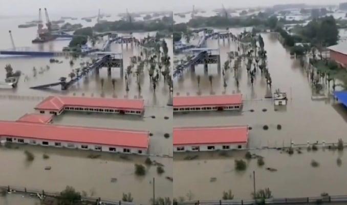 合肥降水量破極值 影片傳武漢青山大橋開閘口