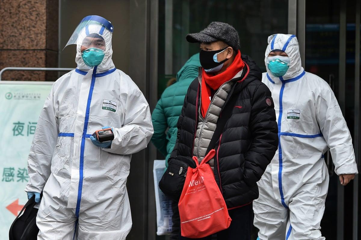根據中國騰訊「誤植」的數據,中共肺炎致死率16%。 (HECTOR RETAMAL/AFP via Getty Images)
