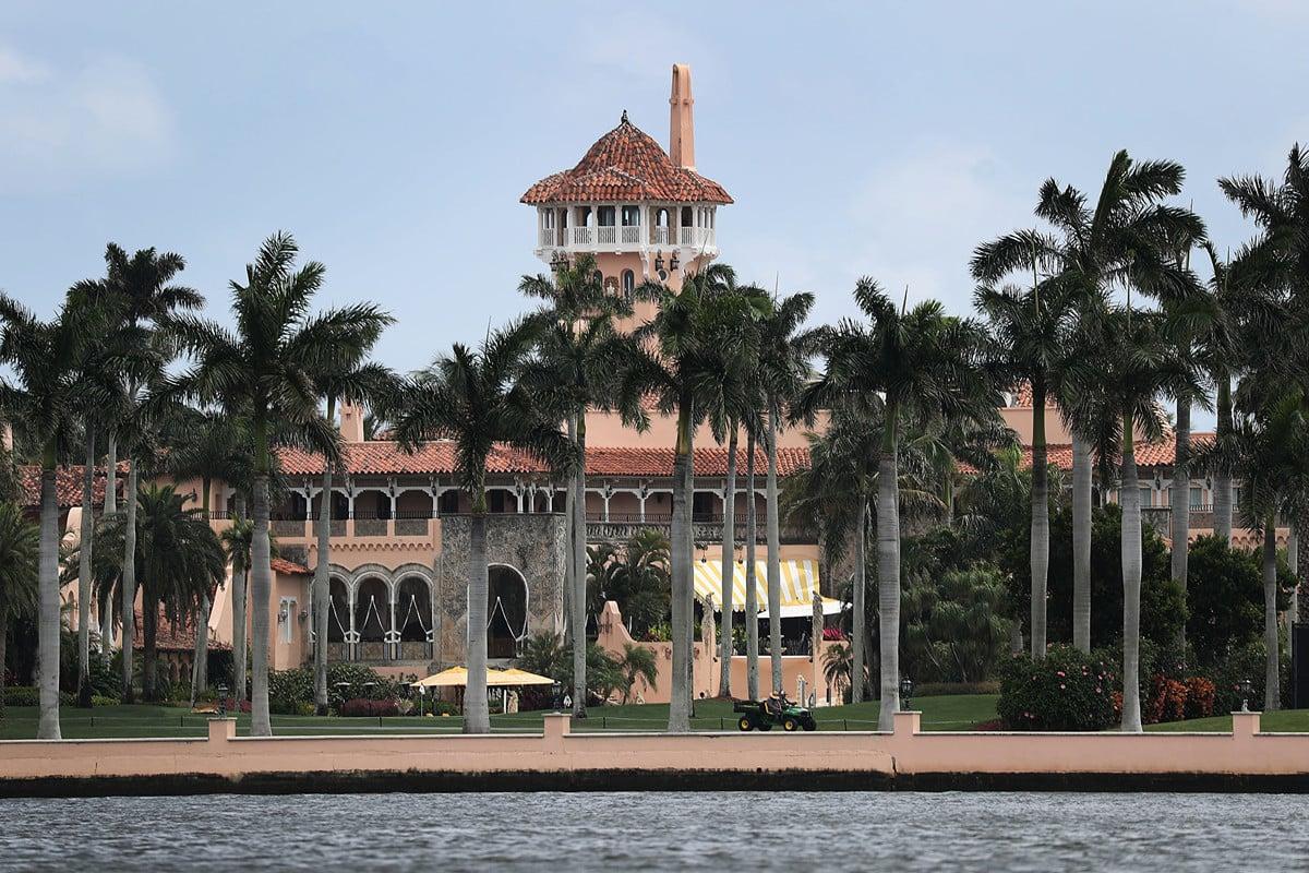 特朗普總統位於佛羅里達州的海湖莊園(Mar-a-Lago)外景。(Joe Raedle/Getty Images)