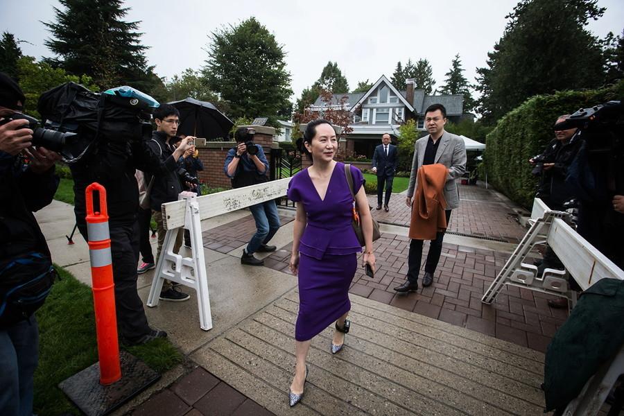 孟晚舟溫哥華出庭 律師求閱被捕文件