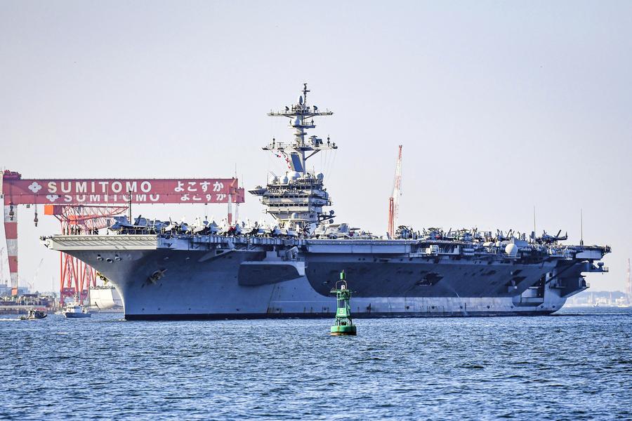 填補美國航艦空缺 卡爾文森號駐橫須賀